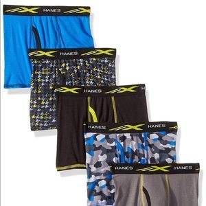 Men's 5 pack Hanes x-temp Boxer Briefs